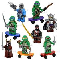 Action Figures Lego Tartarugas Ninja Kit 8 Minifiguras Novos