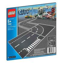 7281 Lego City Entroncamento E Curvas