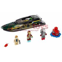 Tipo Lego Homem De Ferro Lancha Batalha No Mar Marvel Heroes