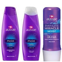 Kit Aussie - Shampoo + Condicionador + 3 Minute Miracle
