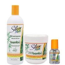 Kit Bambu Shampoo Silicon Mix 473ml+máscara 450g + Gotas59ml