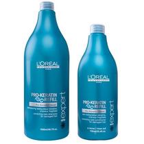 Loreal Pro Keratin Shampoo 1500ml + Condicionador 750ml