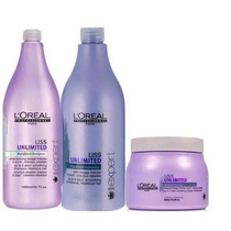 Kit Profissional Loreal Liss Unlimited - 3 Produtos