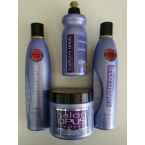Salon Opus Kit Violet Desamarelador Sh+ Cond+ Máscara+ Pent.
