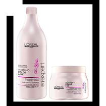 Kit L´oréal Vitamino Colora.ox: Shampoo 1,5l + Máscara 500gr