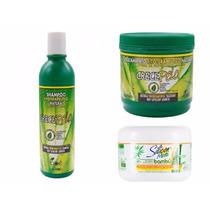 Kit Crece Pelo Shampoo + Máscara Crecepelo + Máscara Bambu