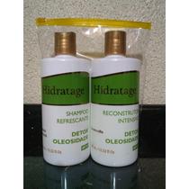 Kit Detox Oleosidade Shampoo E Reconstrutor Hidratage 400ml
