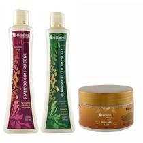 Shampoo Silicone + Condicionador + Máscara Sos 250g Midori