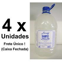 4 Unidades Shampoo Hidratante Lanolina Lánoly Galão 5 Litros