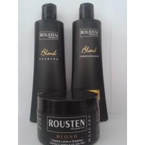Shampoo,condicionador E Mascara Cabelos Loiros Blond Rousten