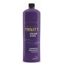 Trivitt Color Blonde Shampoo Desamarelador Matizante 1 Litro