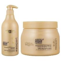 Shampoo 500ml + Máscara 500g Loreal Absolut Repair Lipidium