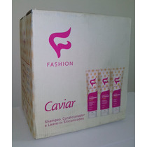 Kit Caviar Com 12, Shampoo, Condicionador E Leave - In