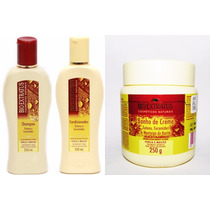 Shampoo + Condicionador + Banho De Creme Tutano Bio Extratus