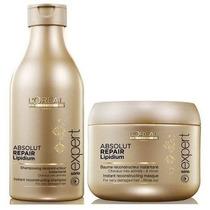Loreal Absolut Repair Lipidium Shampoo 250ml + Mascara 200ml
