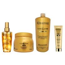 Kit Kérastase Elixir - Máscara + Shampoo + Óleo + Bb Cream