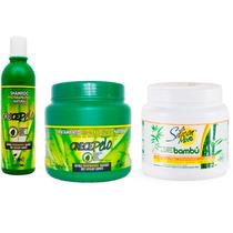 Shampoo + Mascara 794g Crecepelo Silicon Mix Bambu 1kg