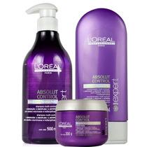 Loreal Absolut Control - Kit Shampoo + Condicionador + Másca