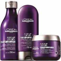 L´oreal Absolut Control Kit 3 Produtos Shampoo-cond-máscara