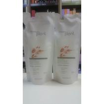 Kit C/ 4 Refis Shampoo Natura Plant Brilho E Maciez 300 Ml