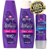 Kit Aussie Shampoo + Condicionador + 3 Minute Miracle