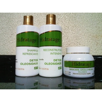 Kit Detox Shampoo/reconstrutor/máscara Hidratage 400ml