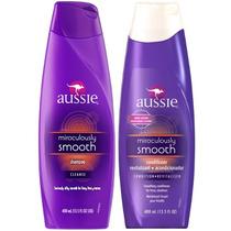 Kit Smooth Aussie Shampoo 400ml + Condicionador 400ml