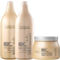 Loreal Kit Shampoo 1,5 L Condicionador 1,5 L Mascara 500 Gr