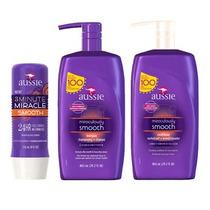 Kit Aussie Smooth 865ml-shampoo+condicionador+máscara+brinde