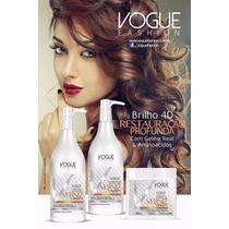 Kit Manutenção Brilho 4d Banho De Verniz Vogue Fashion 500ml