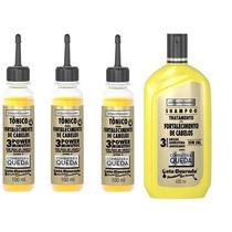 Extraordinário Kit Gota Dourada Shampoo + 3 Tonicos