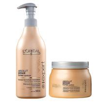 Loréal Absolut Repair Kit Shampoo 500ml + Mascara 500ml