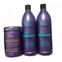 Kit Tri Restore Argan Oil Aramath - Profissional