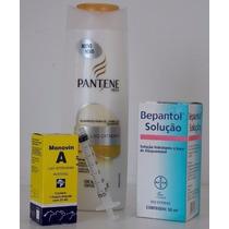 Shampoo Bomba= Shampoo 200ml Pantene + Monovin A E Bepantol
