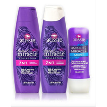 Kit 7 Em 1 Aussie Shampoo + Condicionador + 3 Minute Miracle