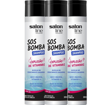 Kit 3 Shampoo Sos Bomba - Salon Line