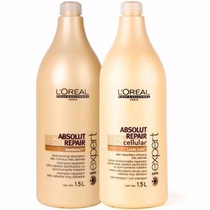 Loréal Absolut Repair Kit Shampoo 1,5l E Condicionador 1,5l