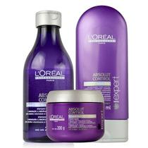 Loreal Absolut Control Kit Shampoo Condicionador + Máscara