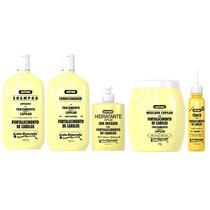 Kit 5 Itens Shampoo Fortalecimento Capilar Gota Dourada Top