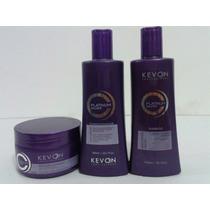 Kit Matizador Platinum Silver Kevon Shampoo Cond E Máscara