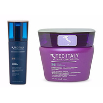 Shampoo Lumina Tec Italy Matizador + Mascara Rojo