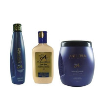 Aneethun Linha A Shampoo + Creme + Mascara - Profissional