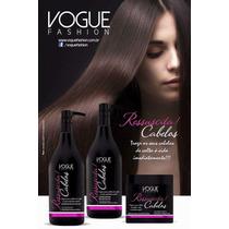Kit Ressuscita Cabelo Vogue Fashion Pós Progressiva 3 Passos