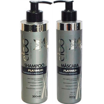 Kit Eico Platinum Duo Shampoo + Máscara 300ml Amk Cosméticos