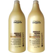 Kit Loréal Absolut Repair Shampoo 1,5l + Condicionador 1,5l
