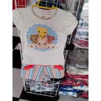Conjunto Infantil Feminino Casquinha Com Shorts