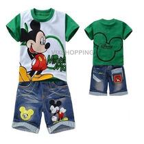 Conjunto Infantil Mickey Camisa + Bermuda + Frete Grátis