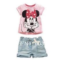 Conjunto Minnie Infantil Importado Meninas 1/2 Anos