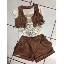 Conjunto Infantil Lilica Repilica! Shorts Blusa E Colete! Sp