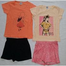 Lote Roupa Infantil 9 Conjuntos + 1 Vestido Atacado T. 8/10
